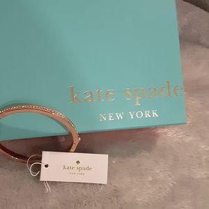 Kate Spade Rose Gold NWT hinged bracelet